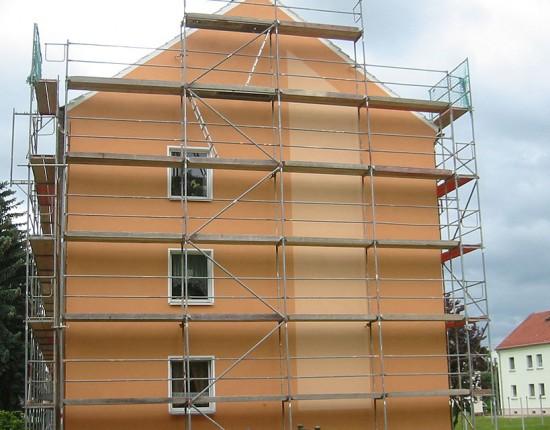 Sanierung Fassade AWG Wohnhaus, Leutersdorf